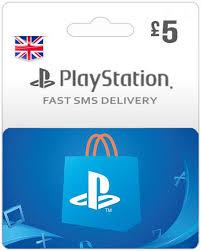 PSN -UK Gift Card GBP 5 POUND – PlayStation 4 STORE NETWORK CARD-Karachi